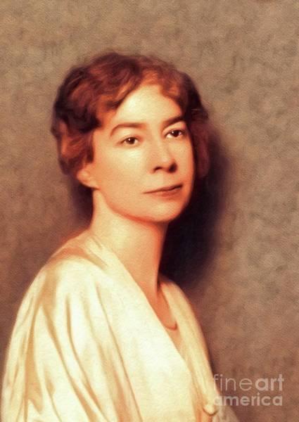 Sara Painting - Sara Teasdale, Literary Legend by John Springfield