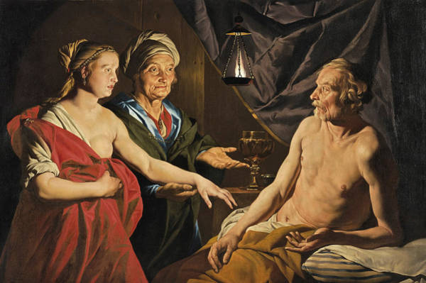 Painting - Sarah Brings Hagar To Abraham by Matthias Stom