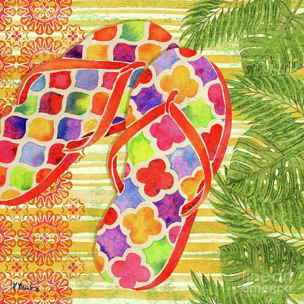 Flops Wall Art - Painting - Sarasota Sandals I by Paul Brent