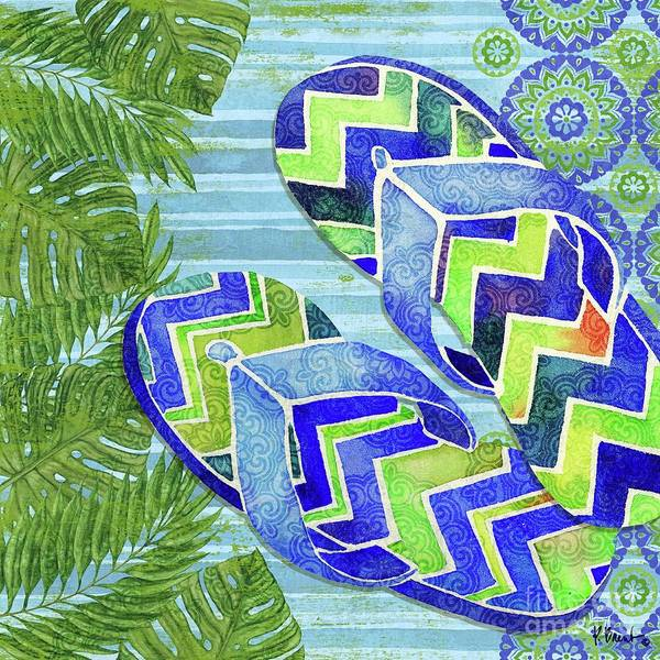 Flops Wall Art - Painting - Sarasota Sandals II by Paul Brent