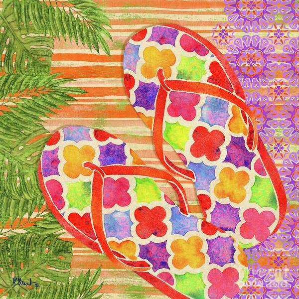 Flops Wall Art - Painting - Sarasota Sandals IIi by Paul Brent
