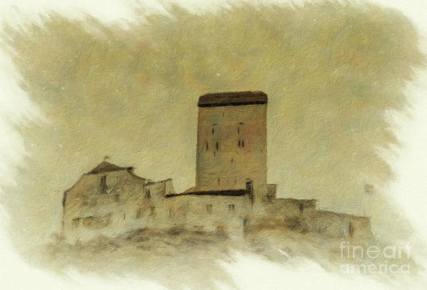 Schloss Wall Art - Photograph - Sargans Castle Oil Painting 2 by DiFigiano Photography