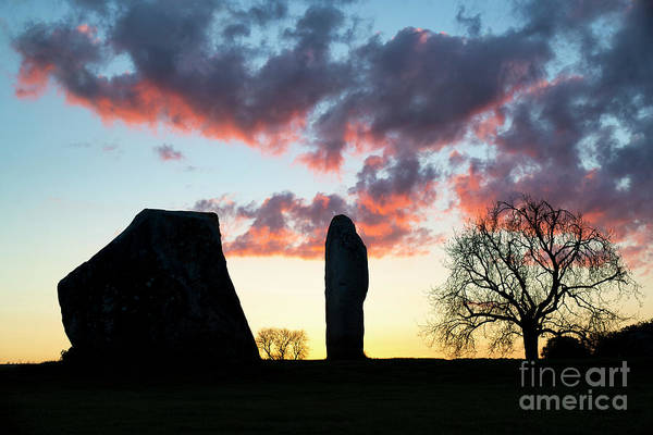 Photograph - Sarsen Stones Avebury Sunrise by Tim Gainey