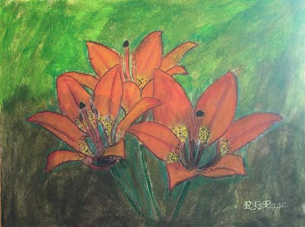 Pastel - Saskatchewan Western Red Lily by Richard Le Page