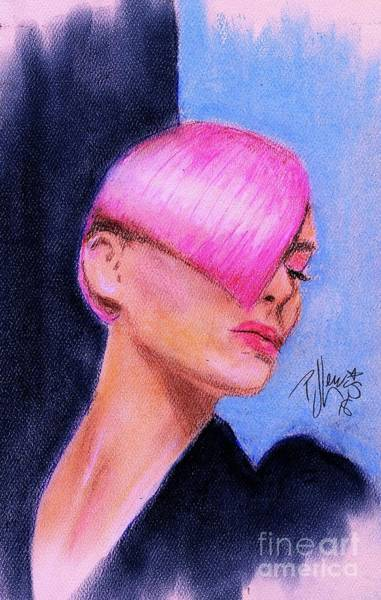 Wall Art - Drawing - Sassoon Style Pink by PJ Lewis