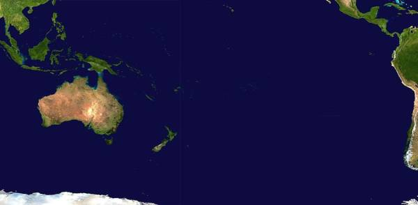 Painting - Satellite Image Of Oceania, Australasia And South-eastern Asia by Celestial Images