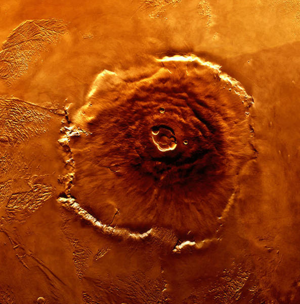 Vertical Perspective Photograph - Satellite Image Of Olympus Mons by World Perspectives
