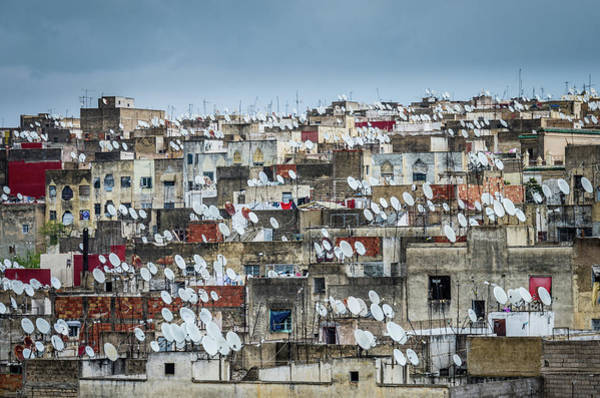 Medina Wall Art - Photograph - Satellite Receivers Of Fes by Peter Vruggink