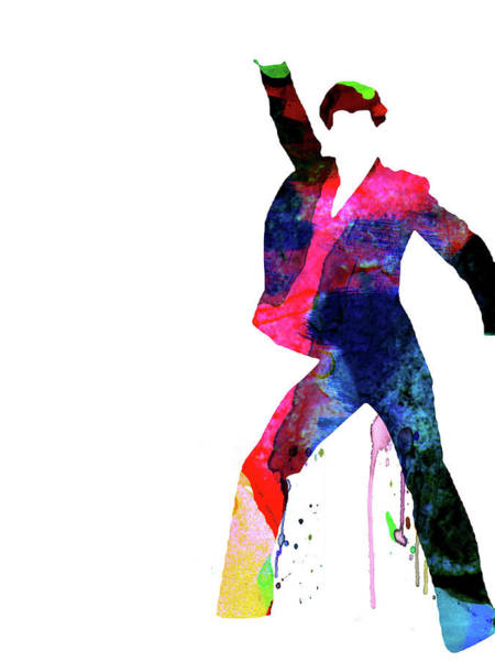 Wall Art - Mixed Media - Saturday Night Fever Watercolor by Naxart Studio