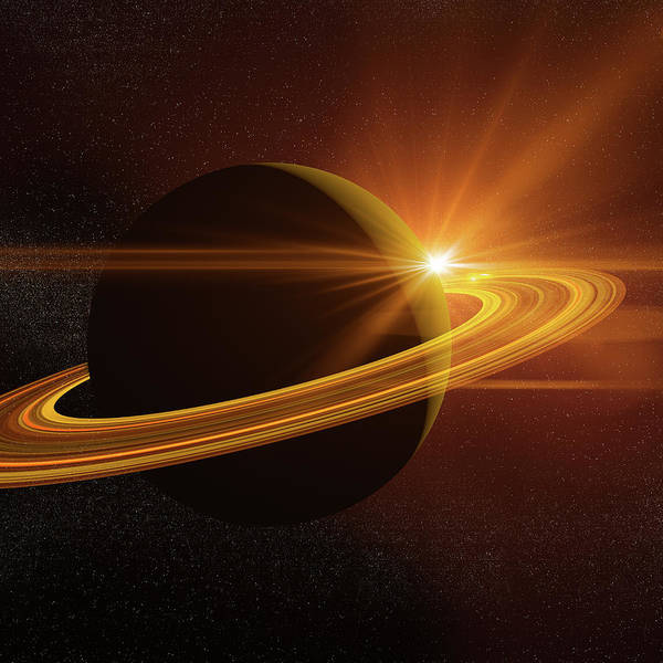 Ozone Layer Photograph - Saturn by Teekid
