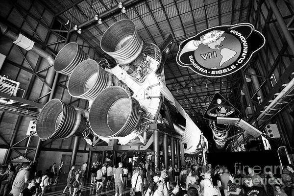 Wall Art - Photograph - Saturn V Rocket In The Apollo/saturn 5 Center Kennedy Space Center Florida Usa On The Week Of The 50 by Joe Fox