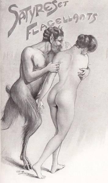 Drawing - Satyres Et Flagellants by Gaston Smit