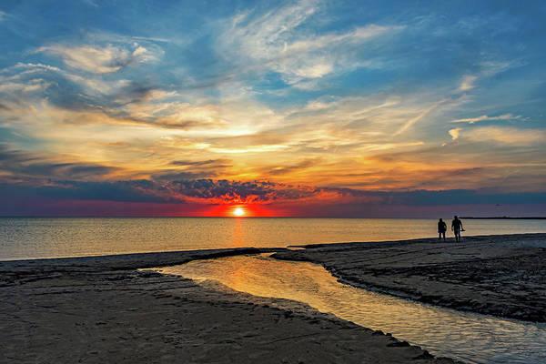 Wall Art - Photograph - Sauble Beach Sunset - Evening Ritual by Steve Harrington