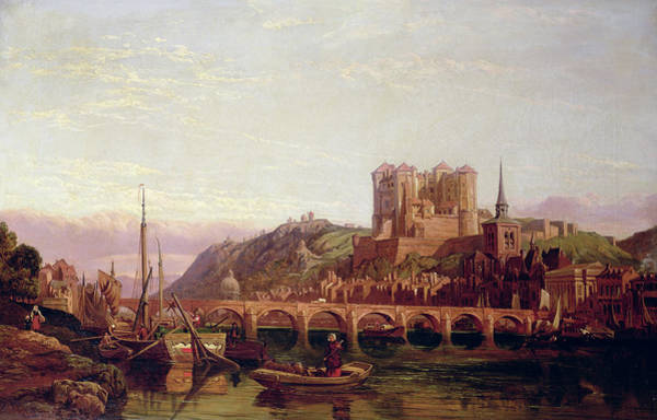 Artichoke Painting - Saumur, By The Loire Valley by George Clarkson Stanfield