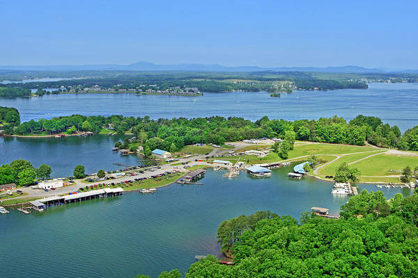 Photograph - Saunders Marina, Smith Mountain Lake, Va. by The American Shutterbug Society