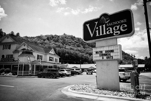 Wall Art - Photograph - Saunooke Village Shopping Area Cherokee Indian Tribal Land, North Carolina, Usa by Joe Fox