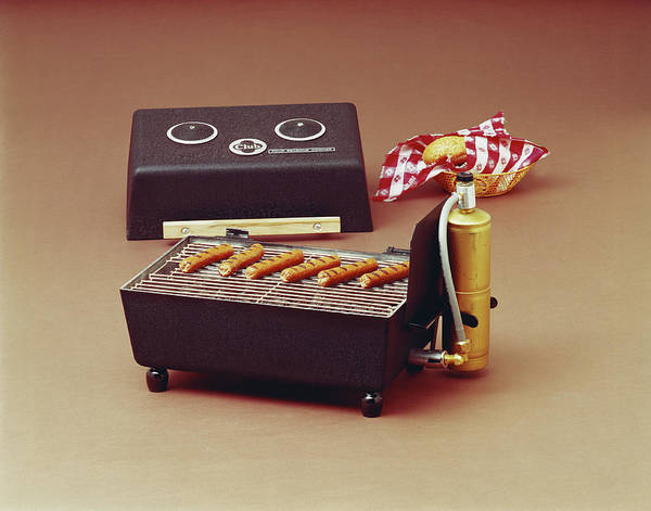 Buns Photograph - Sausages On Barbecue Grill by Tom Kelley Archive