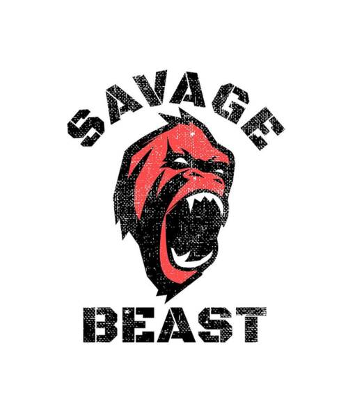 Powerlifting Digital Art - Savage Beast by Chuck Basford