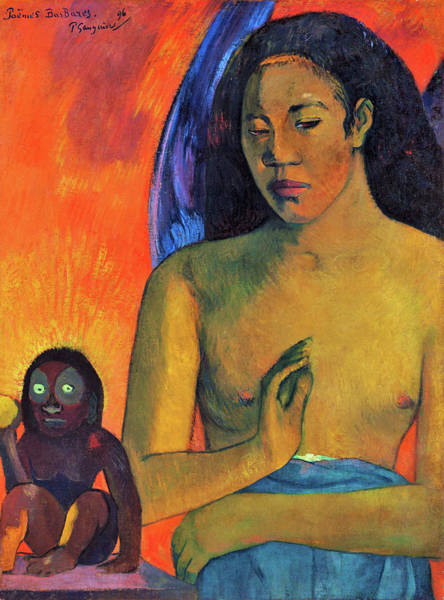 Wall Art - Painting - Savage Poems - Digital Remastered Edition by Paul Gauguin