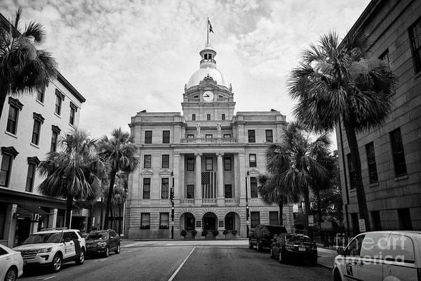 Wall Art - Photograph - Savannah City Hall With Golden Dome City Of Savannah Georgia Usa by Joe Fox