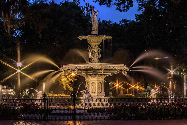 Photograph - Savannah Fountain by Dorothy Cunningham
