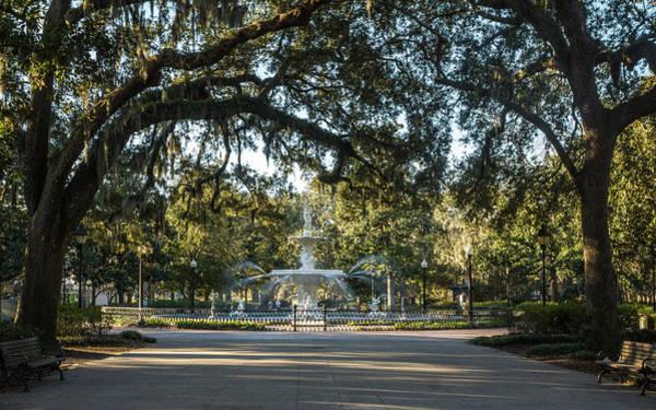 Photograph - Savannah Fountain by Framing Places