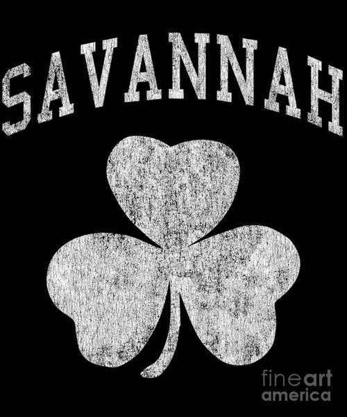 Digital Art - Savannah Georgia Irish Shamrock by Flippin Sweet Gear