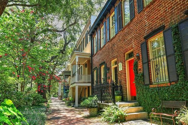 Photograph - Savannah Georgia Row Houses  by Carol Montoya