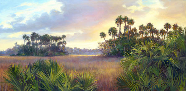 Lake Okeechobee Wall Art - Painting - Savannah by Laurie Snow Hein