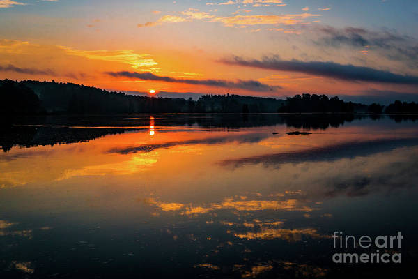 Photograph - Savannah River Sunrise - Augusta Ga 2 by Sanjeev Singhal
