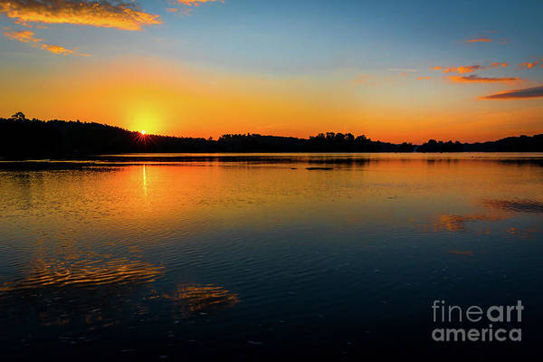 Photograph - Savannah River Sunrise - Augusta Ga by Sanjeev Singhal