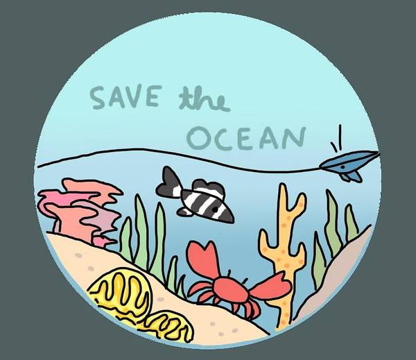 Save The Whales Wall Art - Digital Art - Save The Ocean by Juliana Bank