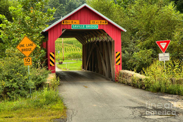 Photograph - Saville Covered Bridge by Adam Jewell