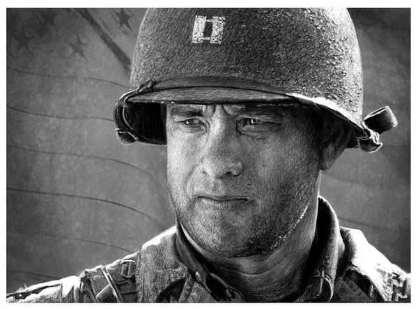 101 Digital Art - Saving Private Ryan Tom Hanks, by Anggia Anindita