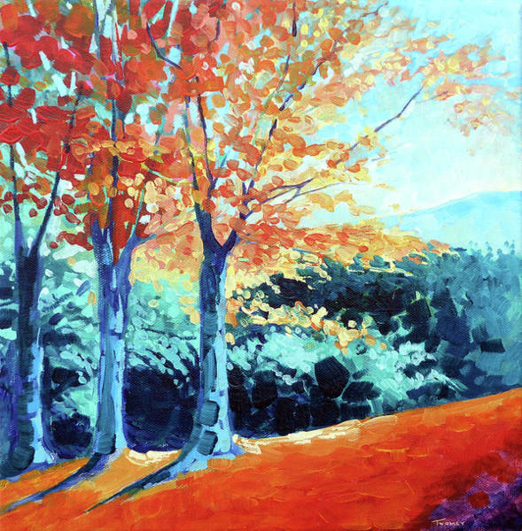 Create Painting - Saw Mill Hill Road, Vermont Autumn by Catherine Twomey
