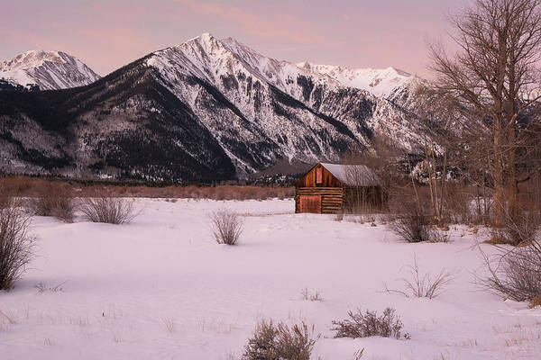Photograph - Sawatch Cabin - Winter by Aaron Spong