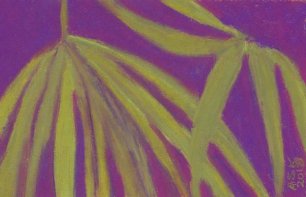 Pastel - Sawgrass Palmetto Study by Anne Katzeff