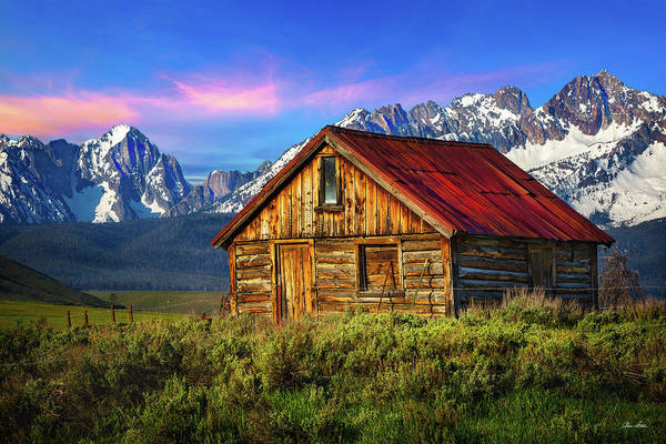Photograph - Sawtooth Cabin by Chris Steele