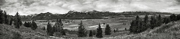 Photograph - Sawtooth Mountains Panorama by Robert Woodward