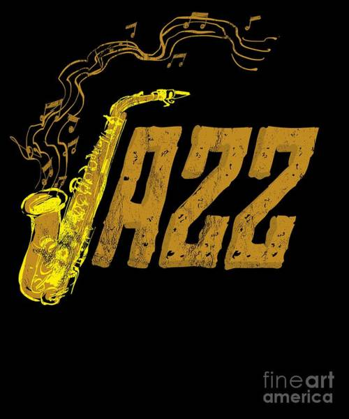Sax Drawing - Saxophone Day Jazz Music Tshirt Band Orchestra Jam Session by Noirty Designs