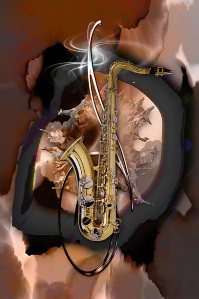 Mixed Media - Saxophone Impression by Marvin Blaine