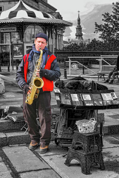 Photograph - Saxophone Player Series 0664 by Carlos Diaz