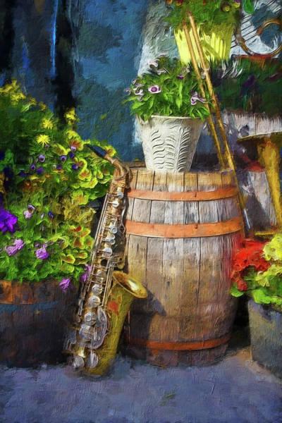 Photograph - Saxophone Series 2868 by Carlos Diaz