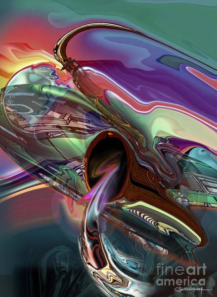 Wall Art - Digital Art - Saxophone Sound by Christian Simonian