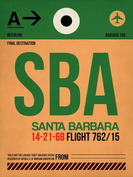 Wall Art - Digital Art - Sba Santa Barbara Luggage Tag I by Naxart Studio