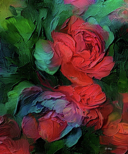 Fall Colors Mixed Media - Multi-colored Roses by G Berry