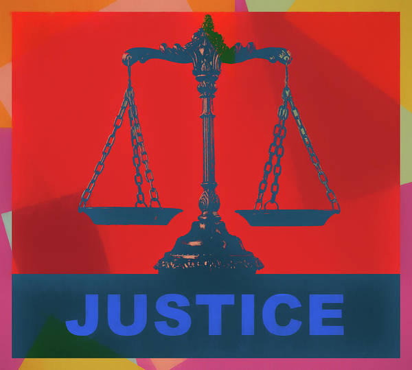 Wall Art - Mixed Media - Scale Of Justice Pop Art by Dan Sproul