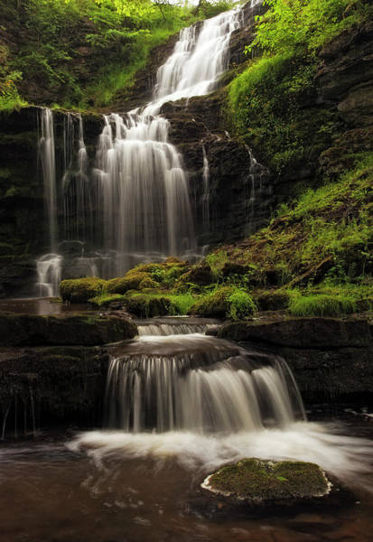 Escarpment Photograph - Scaleber Force - Yorkshire Dales by Dave Moorhouse