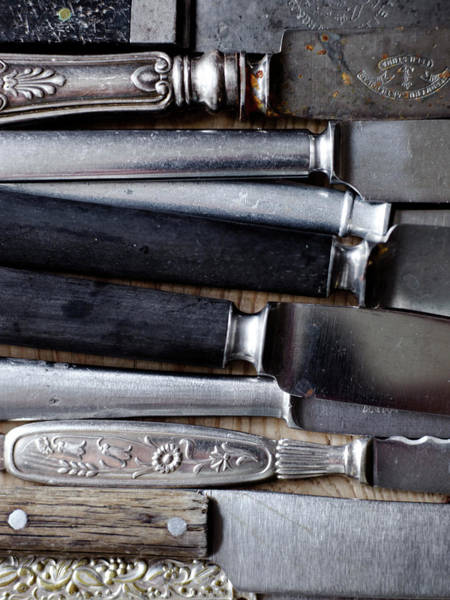 Handle Photograph - Scandinavia, Sweden, Various Knives by Johner Images