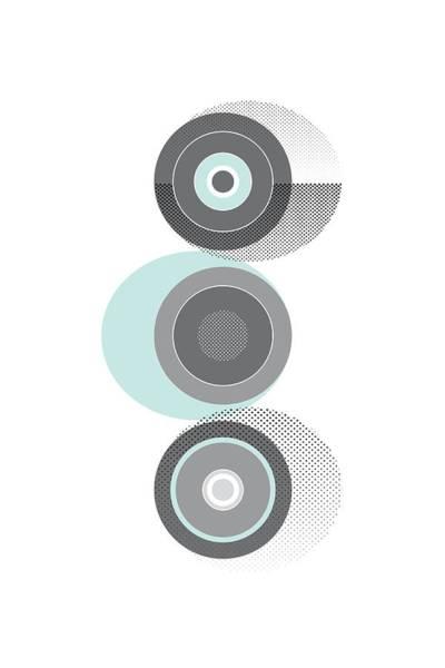 Cyan Digital Art - Scandinavian Design No 32 Turquoise by Melanie Viola